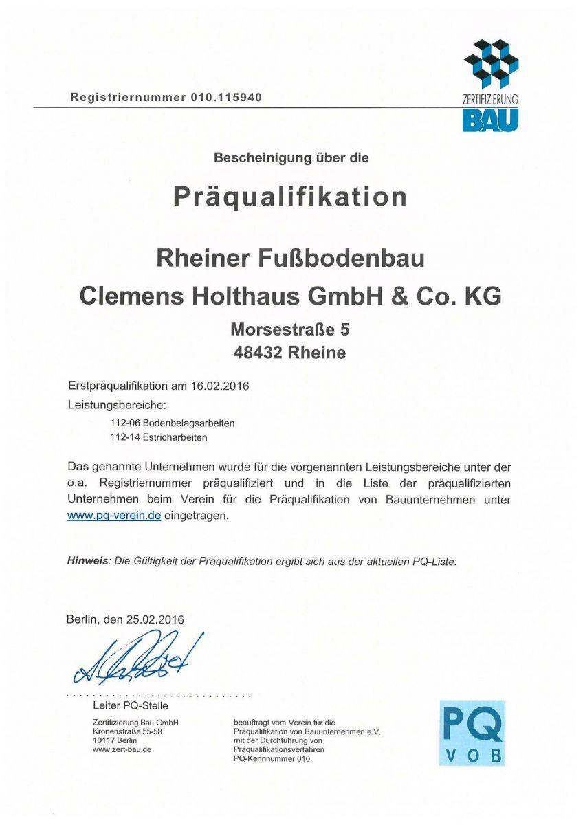 Bauunternehmen Rheine zertifikate holthaus rheine